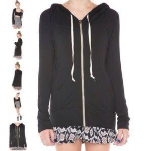 Brandy Melville Dark Grey Zip-up Hoodie Jacket